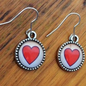 HEARTS! Handmade Cabochon Reversible Earrings
